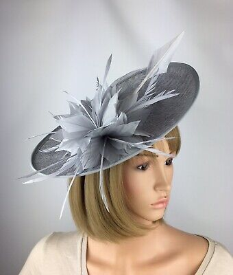 Silver Grey fascinator Wedding Occasion Hat Mother Of The Bride Races Ladies Day
