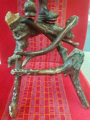 Antique Chinese Shou - Lao Carved Wood Figure of Deity