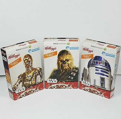 Star Wars Kelloggs  SET of 3 empty limited edition cereal boxes 2015 Australian