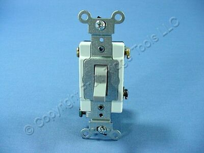 Leviton Gray INDUSTRIAL Grade 3-Way Toggle Wall Light Switch 20A Bulk 1223-SGY