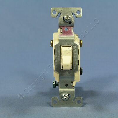 Cooper Light Almond COMMERCIAL Toggle Wall Light Switches 3-WAY 20A Bulk CS320LA
