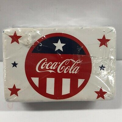Genuine Lot of 5 Sealed Coca Cola Patriotic MRL Home Style Tile Magnets