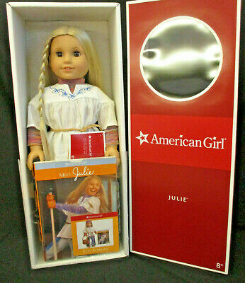 American Girl JULIE Doll with Book and Box