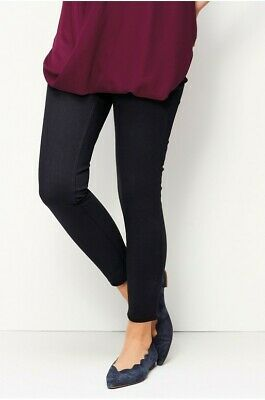 NEXT women maternity pregnancy black jersey denim under bum leggings UK 12 £35
