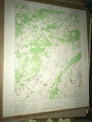 E. Greenville PA Montgomery USGS Topographical Geological Survey Quadrangle Map