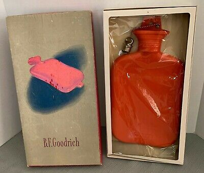 BF Goodrich Water Bottle #36 Akron Ohio Red Metal Stopper Vintage Advertising