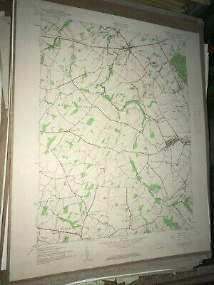 McSherrystown PA. Adams Co USGS Topographical Geological Survey Quadrangle Map