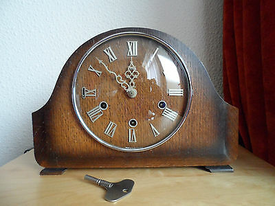 Vintage Smiths Westminster Chiming Mantle Clock