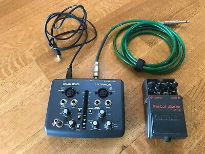 M-Audio M-Track 2 Channel USB/Midi Audio Interface & Boss MT-2W Metal Zone Pedal