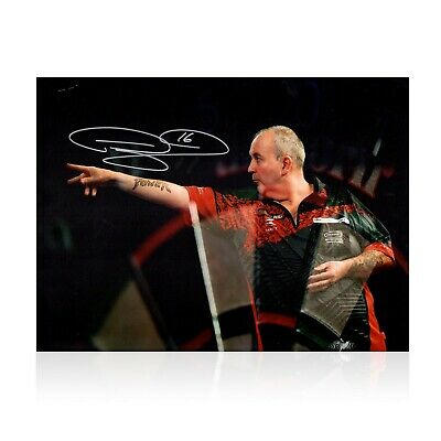 Phil Taylor Signed Darts Photo: At The Oche | Autographed Memorabilia