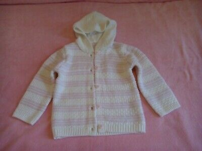 GIRLS KNITTED JACKET (Asda George). Luxury knit, delicate & pretty! 2-3 yrs, NEW