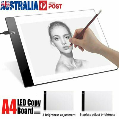 A4 USB LED Artist Stencil Board Thin Light Box Tracing Drawing Board Pad Table