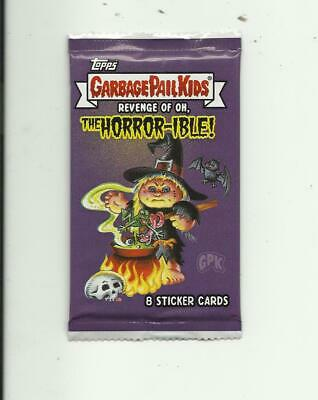 "Garbage Pail Kids ""Revenge of Oh The Horror-ible"" 8 Sticker Cards Sealed Pack"