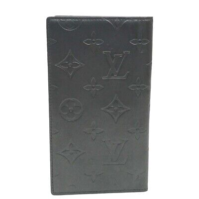 LOUIS VUITTON Monogram Glace Agenda Poshe Notebook Cover Leather R20900