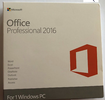 Microsoft Office 2016 Professional 32/ 64 Bit Full Version On USB For 1 PC Only