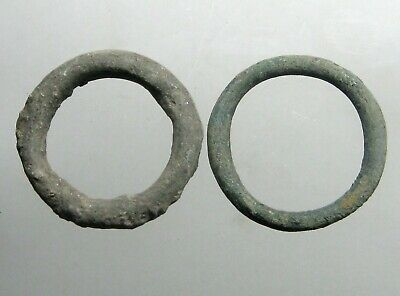 2 (TWO) ANCIENT BRONZE CELTIC RINGS / MONEY____500 BC+____From the Danube Region