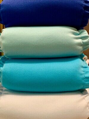 4 Charlie Banana Cloth Diapers Solid Blue Set