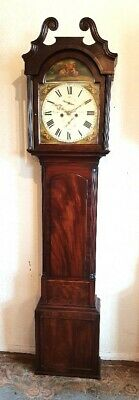 Lovely Petite Georgian Mahogany & Inlaid Longcase Grandfather Clock C1830
