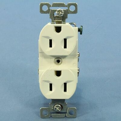 New Hubbell Bryant White COMMERCIAL Outlet Duplex Receptacle 15A 5-15R CBR15BW