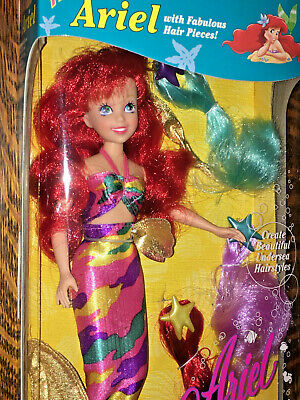 Tyco Disney's~1993~The Little Mermaid~HAIR FASHION ARIEL WITH HAIR PIECES Doll