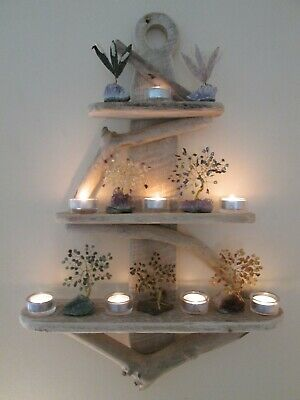 Interesting Driftwood Anchor Shelves Solid Rustic Shabby Chic Nautical