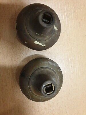 Pair VINTAGE BRASS? DOOR KNOBS