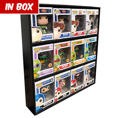 RESTOCK 6/12 ** IN BOX Display Cases for Funko Pops, Black Corrugated Cardboard
