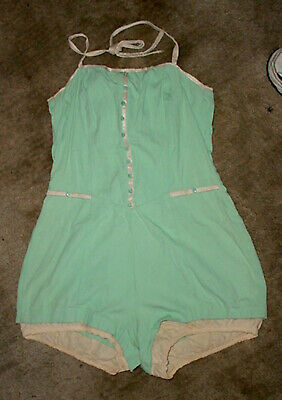 Vintage Catalina Swim Swimming Bathing Suit One Piece Sea Mist Lite Green