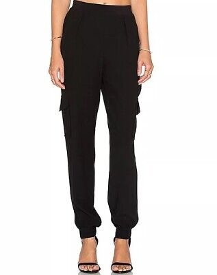 Sanctuary Joggers Medium Pants Black Dinner Pull On 11396863 Cargo Elastic