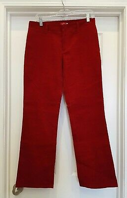 Dickies Girl Junior size 5 flat front red corduroy pants