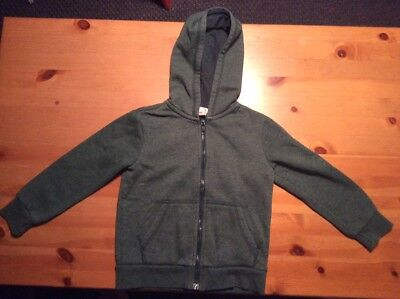 H&M Basic Dark Green Hoodie Hooded Jacket USA Size = 2-4 Years Boys Girls Unisex