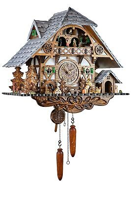 Eble -holzhacker Black Forest House 45cm- 26320 Cuckoo Clock Real Wood New