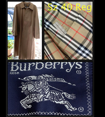 NWOT Burberry London Single Breasted Classic Tan Check Trench Coat Size 40 Reg