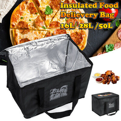 16/28/50L Insulated Pizza Bag Carry Backpack for uber Food Delivery Rucksack .