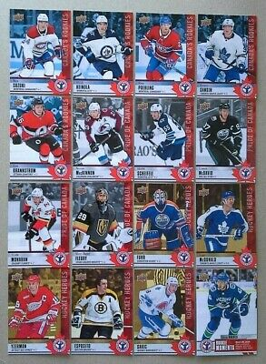 2019-20 Ud National Hockey Card Day Canada, Set Of 16 Cards + Checklist (Nrmt )