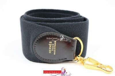 NEW HERMES Vintage Black Box Calf Kelly Bag Replacement Strap Only