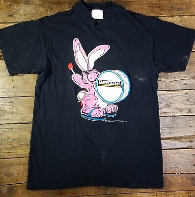 Vintage Energizer Bunny TShirt 1992 Batteries Battery 90s Tee Eveready LARGE USA
