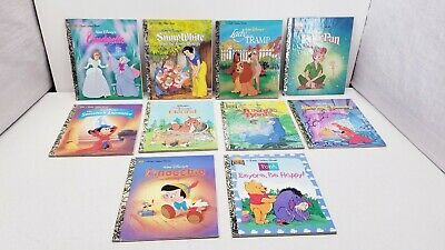 "Lot Of 10 Child Books - ""A Little Golden Book"", For Children - Disney themes"