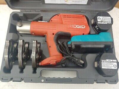 "RIDGID Compact 100-B Pressing Tool Crimper with 3 ProPress Jaws 1/2"", 3/4"" & 1"""
