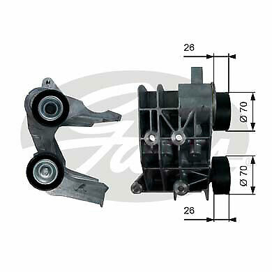 Gates Belt Tensioner Pulley Alternator for FORD FIESTA 1.25 1.4 1.6 CHOICE2//2