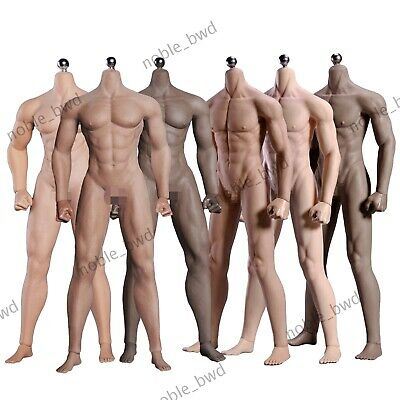 """1/6 Seamless Muscular Male Figure Body Action Doll 12"""" for Phicen TBLeague Head"""