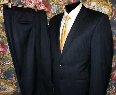 Jos. A. Bank Signature Collection Classic-Fit Tonal Pinstripe Suit Black 39R