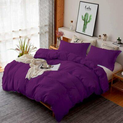 PURPLE 1000TC Soft Duvet/Doona/Quilt Cover Sets Single/Double/Queen/King/Size AU