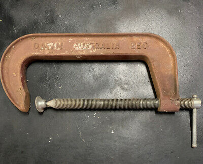 Large Vintage Dawn 250 G-Clamp Australian Made Old Tool