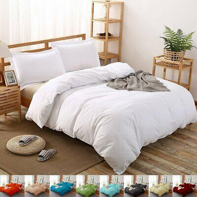Ultra Soft 1000TC All Size Bed  Quilt Duvet Doona Cover Set Sheet Pillowcase