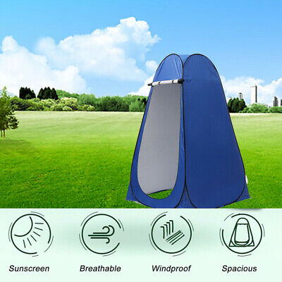 Upgrade Portable Tent Camping Beach Toilet Shower Changing Room + Carry 3 Colors