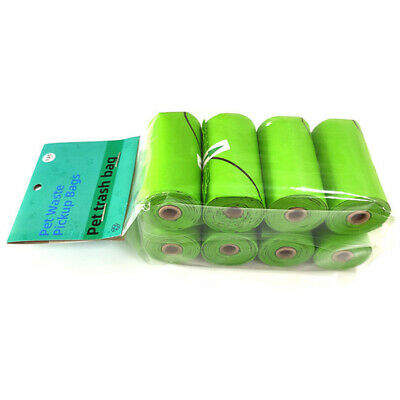 8Roll Biodegradable Pet Dog Puppy Cat Poop Bags Poo Doggy Dirt Waste Handles Bag