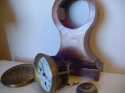French Striking Mantel clock with silk suspension for parts or repair