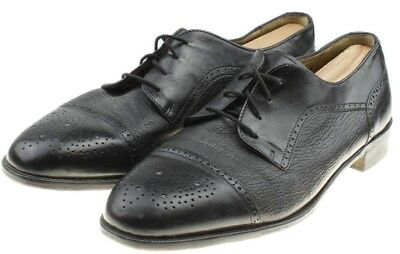 VITO RUFOLO Italy 10.5 M Black Leather Lace Dress Oxford Shoes Vibram Soles