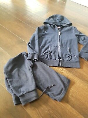 Girls Navy Tracksuit Age 6-8